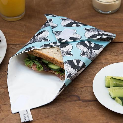 The Owlery Prints, Reusable Sandwich Wrap, Raccoon