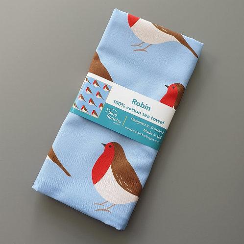 Blue Ranchu Designs, Robin Tea Towel