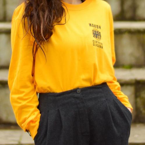 Hakon Clothing, Black Circles on Yellow, Longsleeve