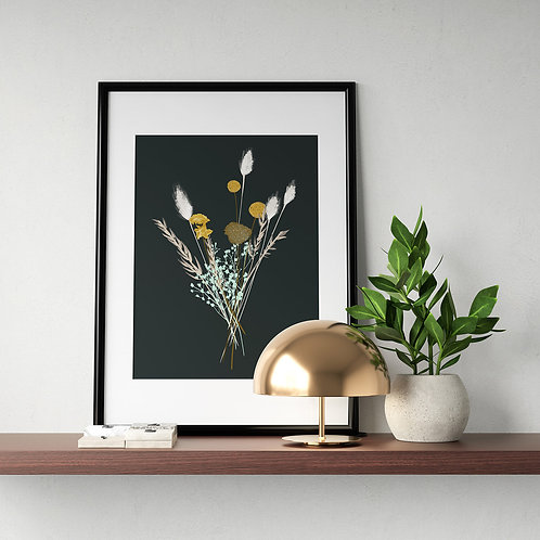 Nebo Peklo Dried Flower Bouquet Giclee Art Print, A3, A4