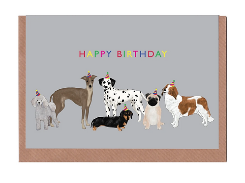 Lydia Meiying, Happy Birthday Dogs Greeting Card