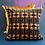 Thumbnail: Art Deco Velvet Cushion, Purple & Gold, 50cm x 50cm