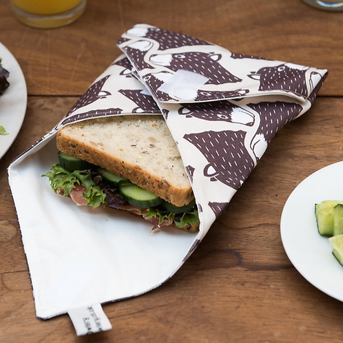 The Owlery Prints, Reusable Sandwich Wrap, Bear