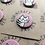 Thumbnail: Robincraft Cat Badges, Assorted Designs, Pink & Blue