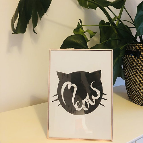 Sleepycats Gifts Meow Print, A4