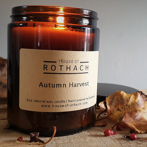 House of Rothach, Autumn Harvest Vegan Candle