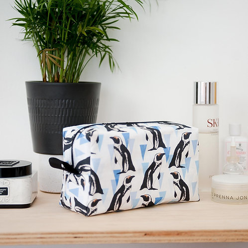 The Owlery Prints, African Penguin Wash Bag