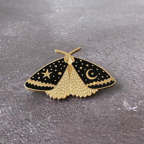 Anita Ivancenko, Celestial Moth Enamel Pin Badge