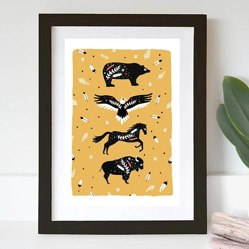 Jade Fisher, Totem Print, A3