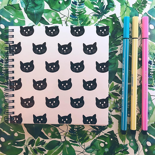 Sleepycats Gifts Ringbound Notebook, 140mm x 140mm