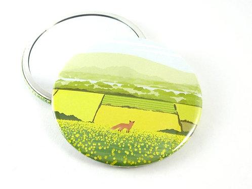 Tom Hardwick Summer Fox Pocket Mirror