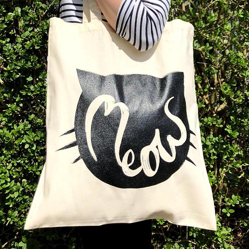 Sleepycats Gifts MEOW Tote Bag