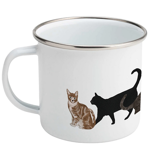 Lydia Meiying, Cat Design Enamel Mug