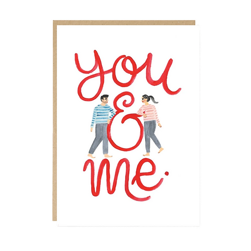 Jade Fisher, You & Me Greeting Card