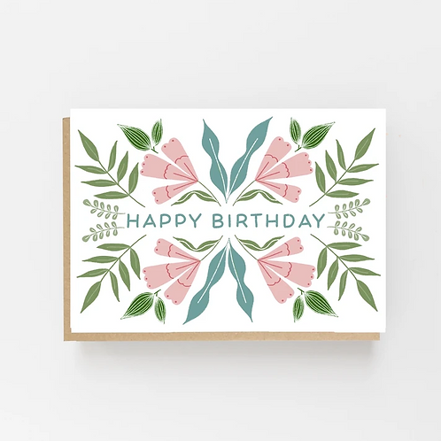 Lomond Paper Co, Floral Happy Birthday Greeting Card