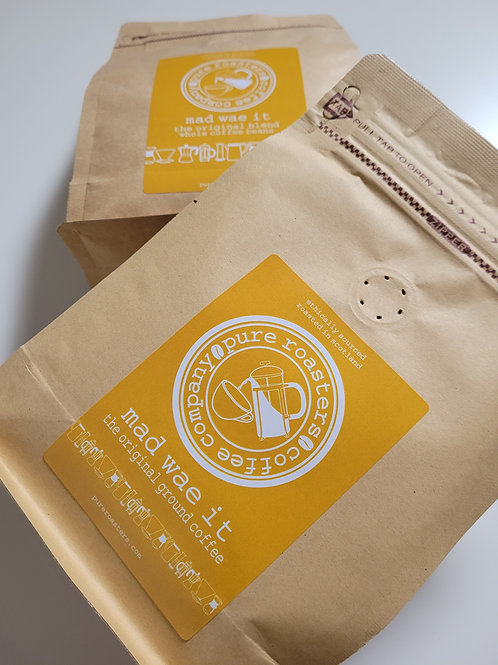 Pure Roasters, Mad Wae It, The Original Blend Coffee, 250g Beans, Ground