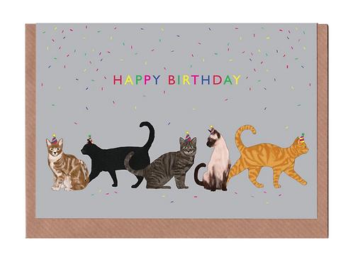 Lydia Meiying, Happy Birthday Cats Greeting Card