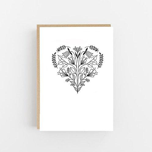 Lomond Paper Co, Folk Heart Greeting Card