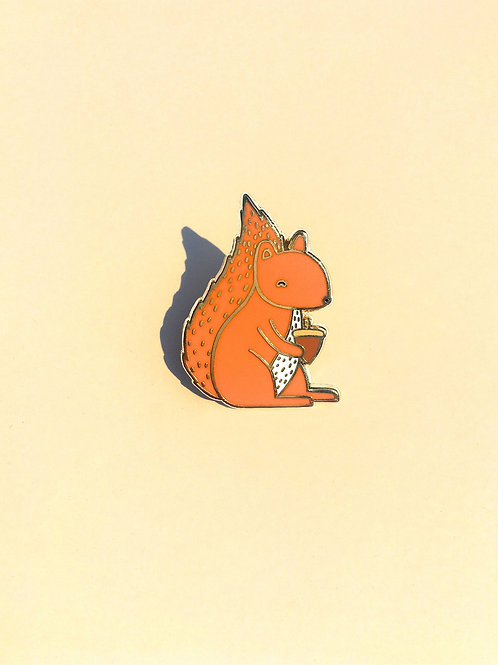 Tom Hardwick Red Squirrel Enamel Pin