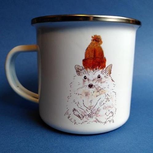 Braw Beasties, Hedgehog Enamel Mug