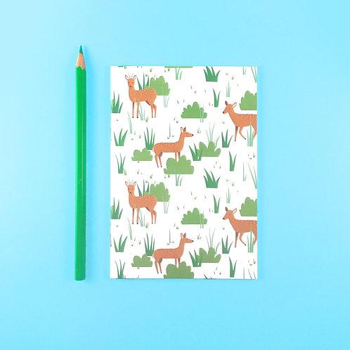 Tom Hardwick Deer Pattern Notebook, A6