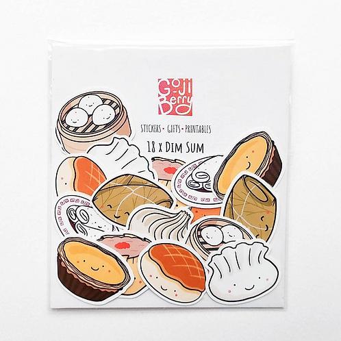 Goji Berry, Dim Sum Sticker Flakes, Pack of 18