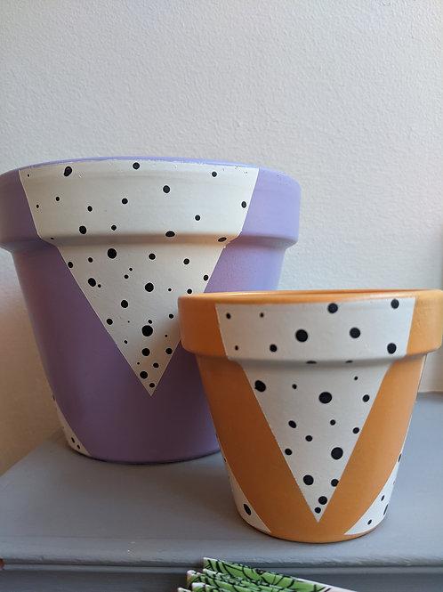 Plant Pots Shop, Spotted Triangles Design