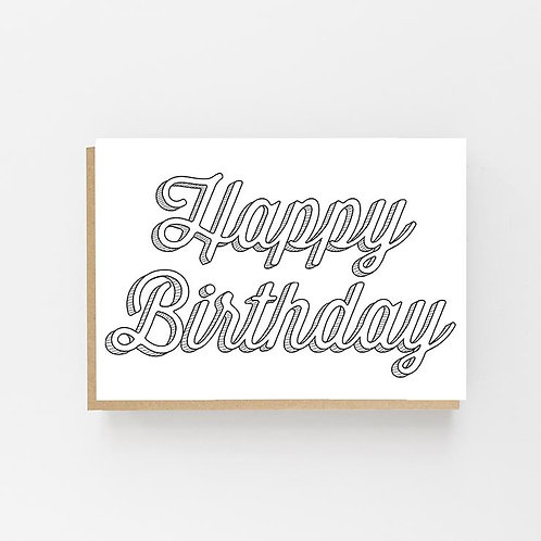 Lomond Paper Co, Happy Birthday Greeting Card