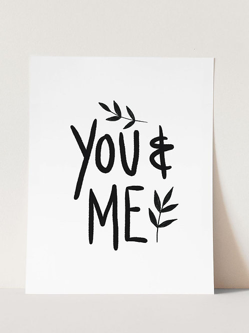 Juniper Press, You & Me Print, A4