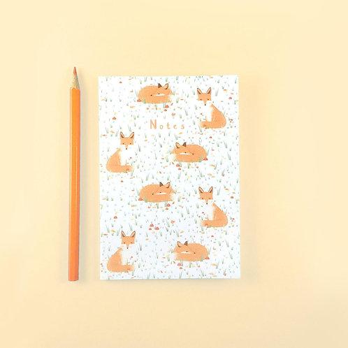 Tom Hardwick Fox Pattern Notebook, A6
