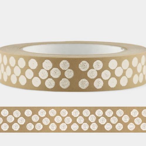 Cascayde, Eco Paper Tape, White Dot Design, 50m