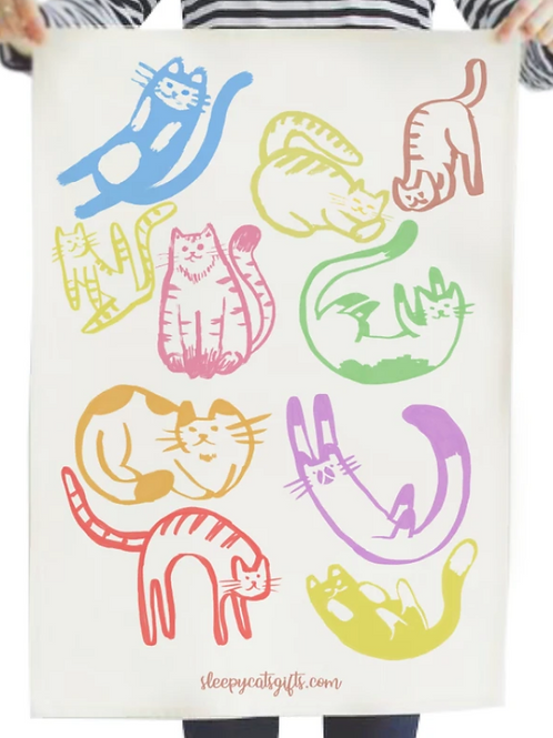 Sleepycats Gifts Cheeky Cats Tea Towel