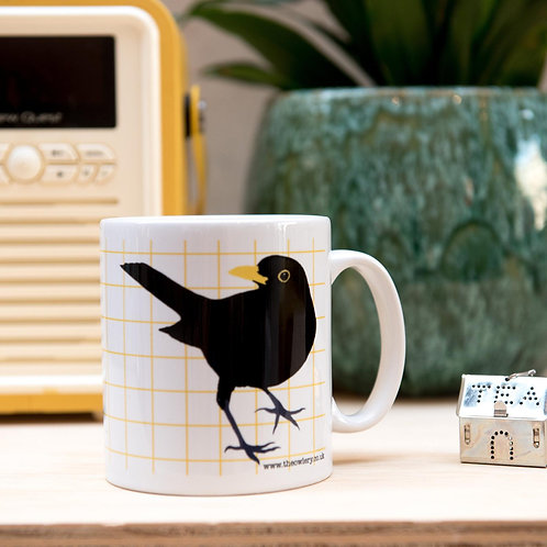 The Owlery Prints, Blackbird Mug