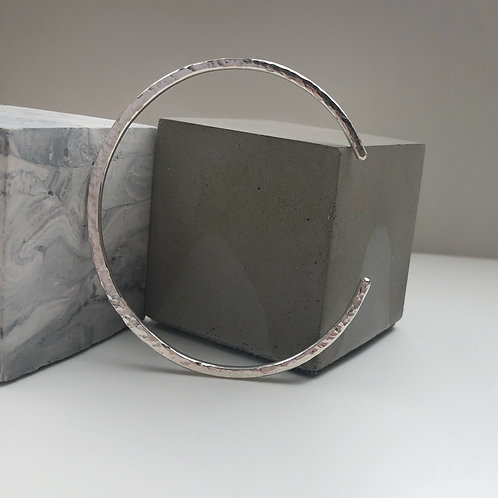 Wild Nora Hammered Recycled Silver Cuff Bangle