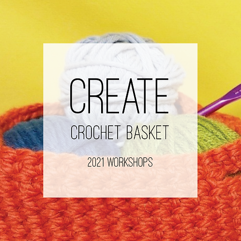 The Colour Dasher, Crochet Basket Evening Creative Workshop, Wednesday 28th July