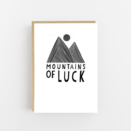 Lomond Paper Co, Mountains of Luck Greeting Card