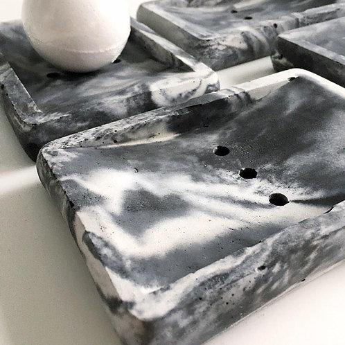 Zoe Scott Designs, Marbled Concrete Soap Dish