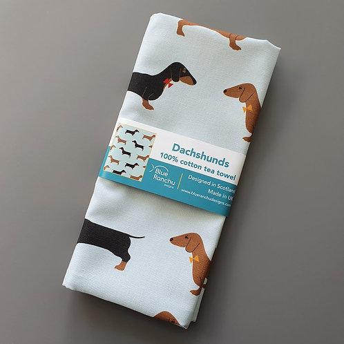 Blue Ranchu Designs, Dachshund Tea Towel