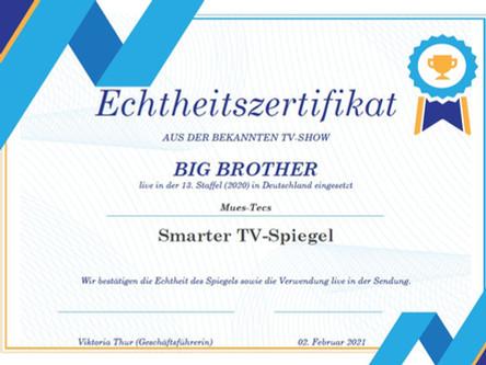 GEWINNSPIEL BEENDET: Der Big Brother Spiegel hat ein neues Zuhause gefunden