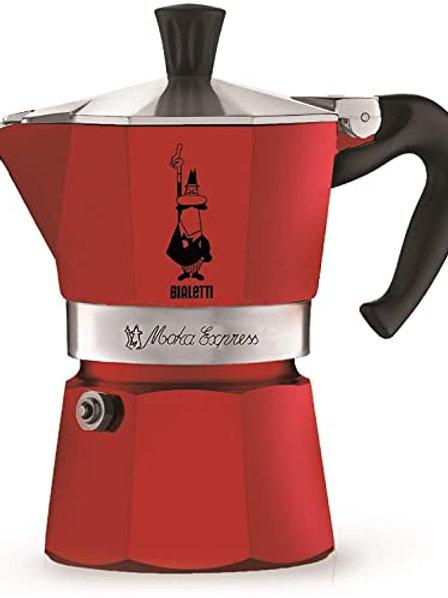 Bialetti Moka Express 3 Cup Red