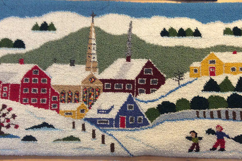 16x 29.5 Winter Church by Lola