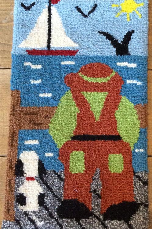 8''x 14'' Fisherman / Dog