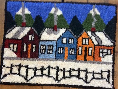 9.5''x 12.5'' 3 house winter