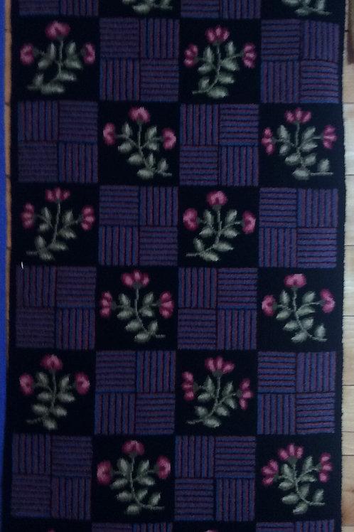 25'' x 50 Black Geo/floral