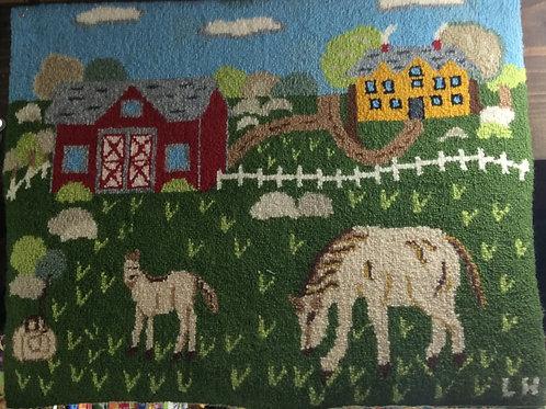 16.5''x 20'' Horse Farm