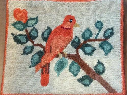 9.5''x 11.5'' Orange Bird