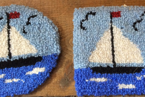4'' sailboat coaster
