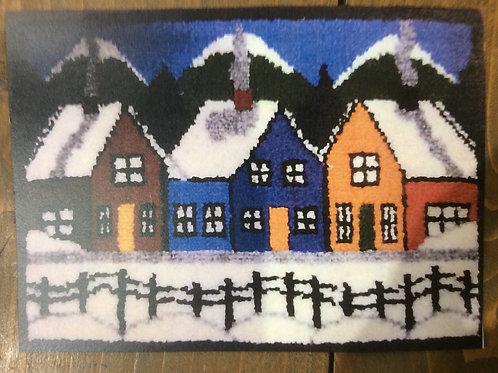 9x12'' Winter Houses Kit