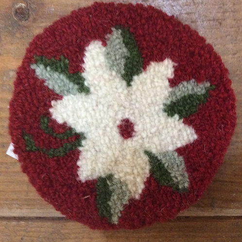 4'' Rd Poinsettia flower Coaster