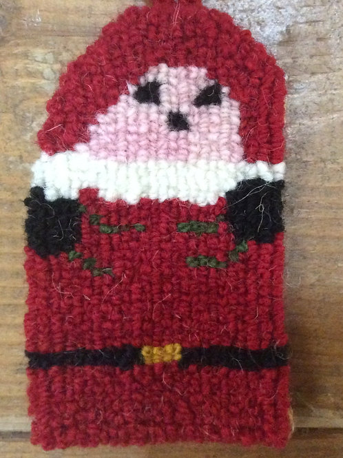 2.5 x 4 Santa tree ornament
